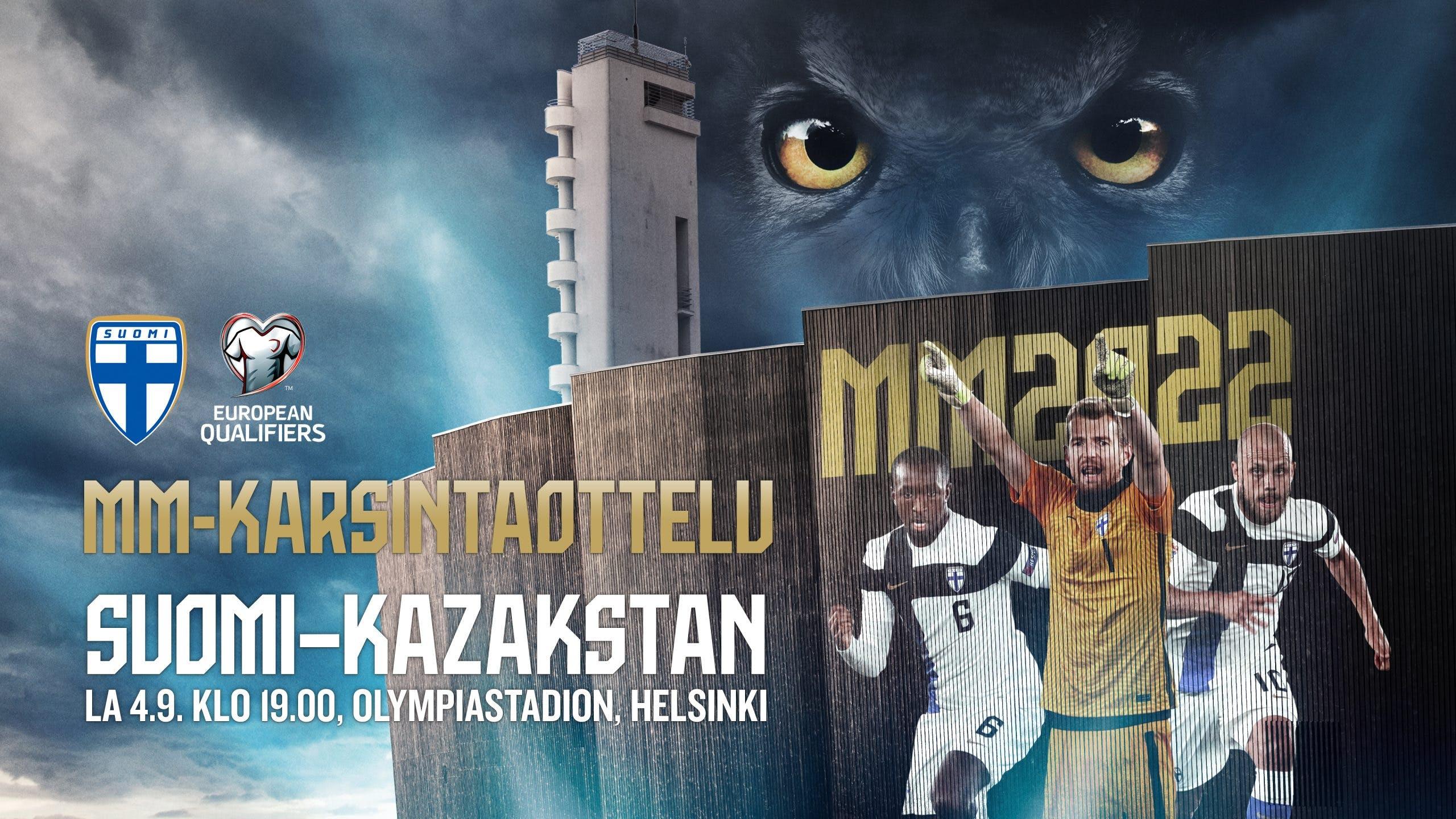Huuhkajat MM-karsintaottelu Suomi-Kazakstan
